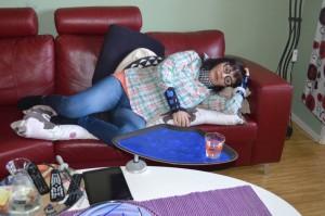 när du ligger i soffan